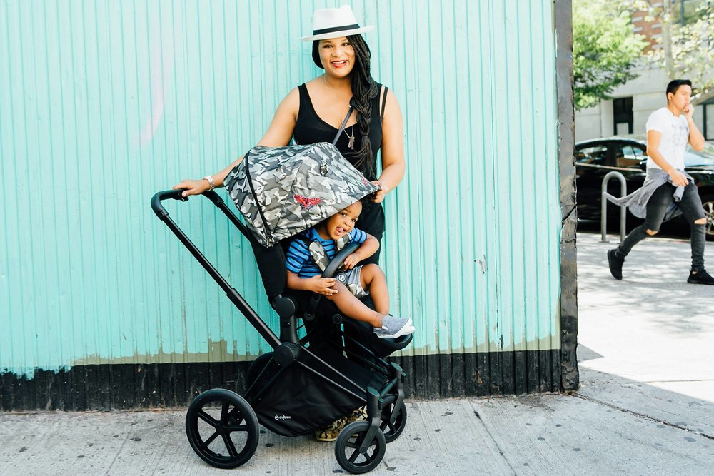 editorial photographer for Cybex commercial | Harlem NYC style blogger