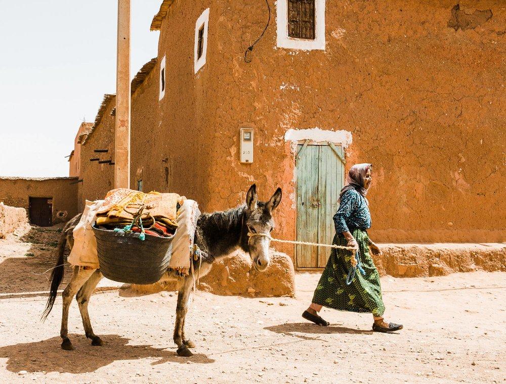 Morocco Sahara village woman