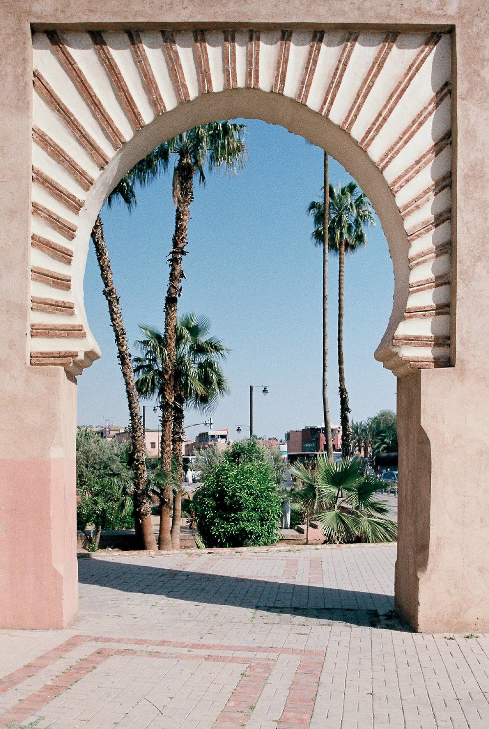 Marrakech gate Kodak portra 400