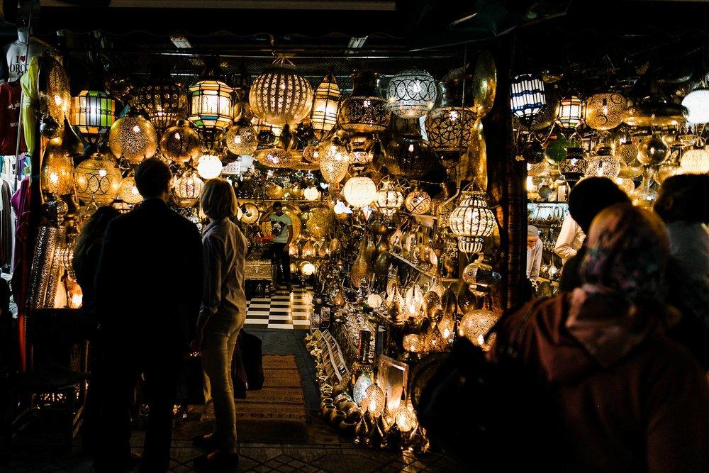 Jemaa el-fna Morocco Marrakech street vendor