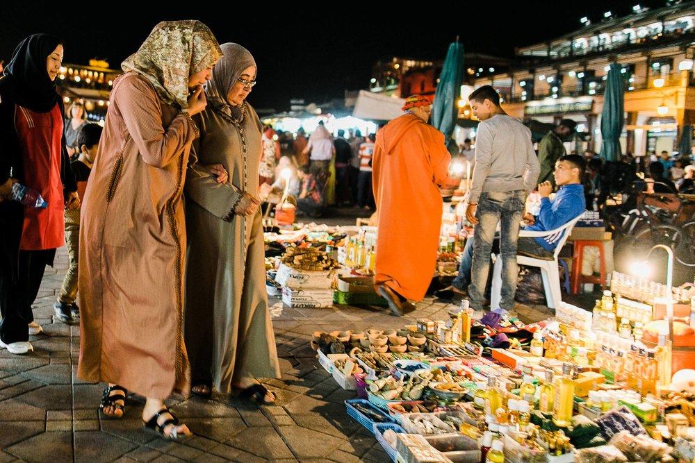 Morocco Marrakech evening street vendor