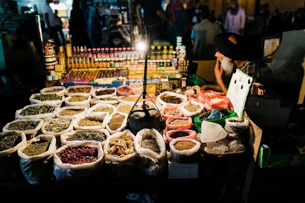 Morocco Marrakech Jemaa el Fnaa street vendor night