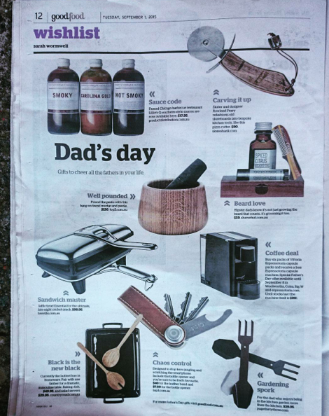 The Sydney Morning Herald, Good Food Guide September 1st, 2015 pg 12