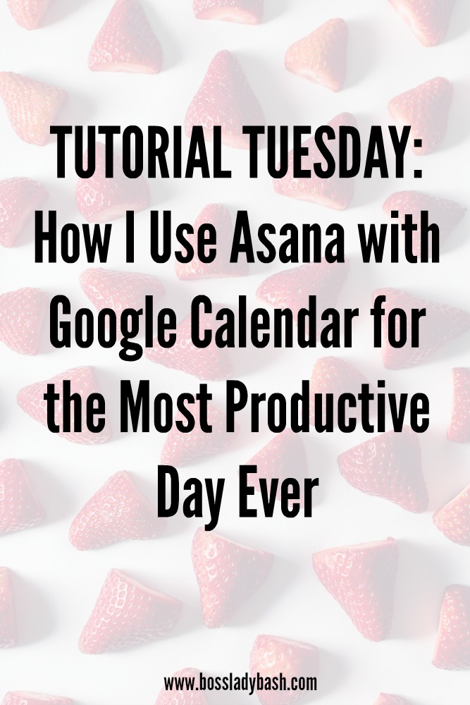 A tutorial on how to use Asana with Google Calendar