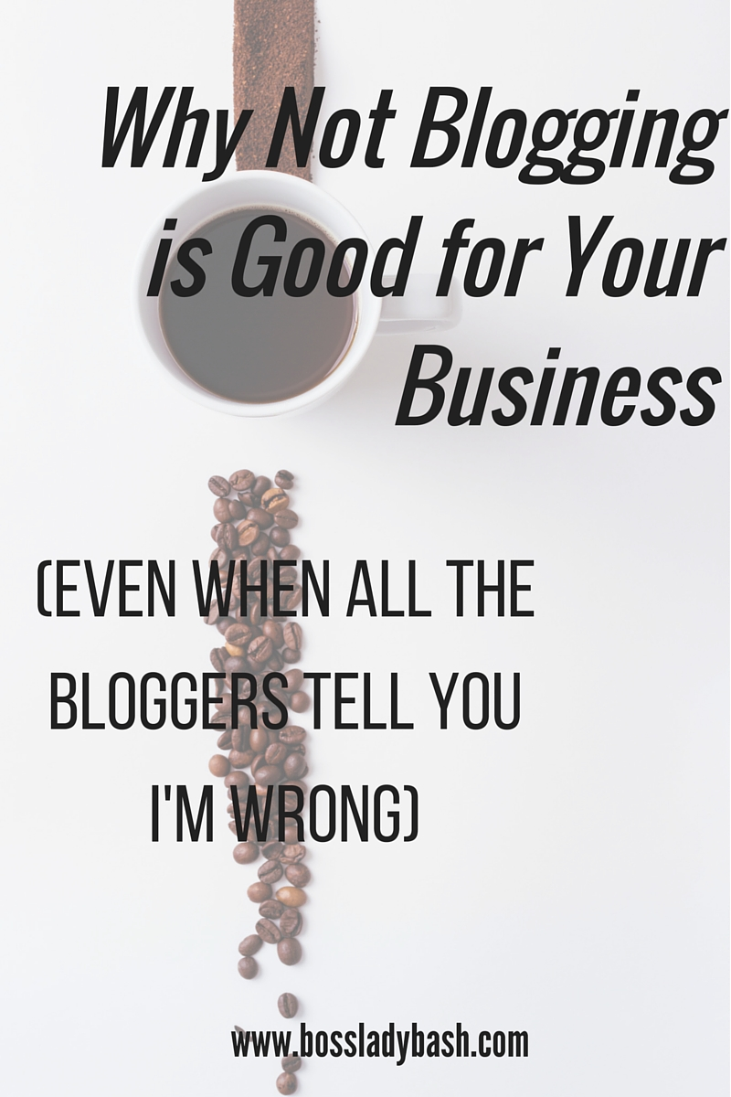 Not blogging is the best thing that happened to me as a small business owner. And it got me back on track as a blogger.