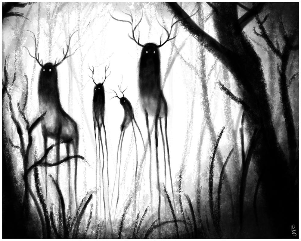 "Through Fog - 8"" x 10"" - Digital Illustration"