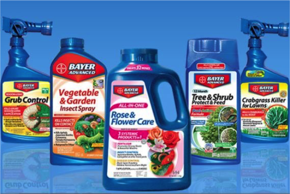 Gardening products like these are advertised as pesticides, however, they contain deadly chemicals that harm not only intended pests, but also bees and other pollinators.