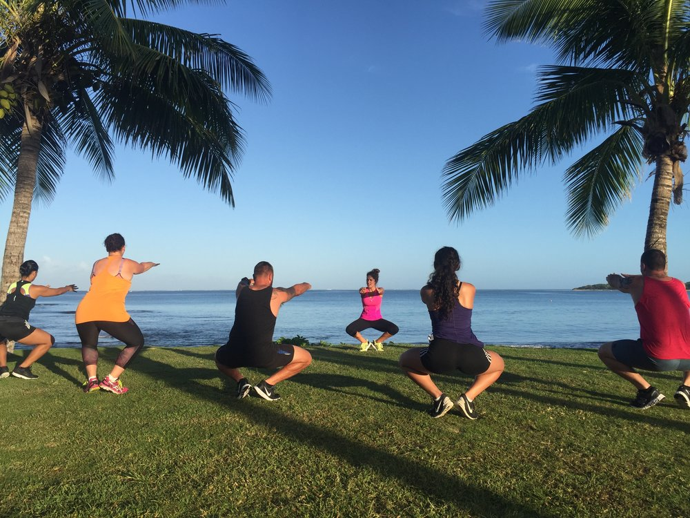 Beachfront pilates - Crave Fiji