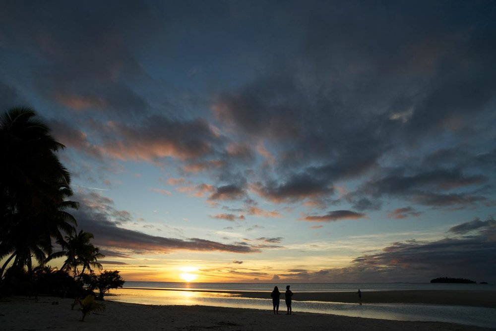 Sunset in Rarotonga - wellness retreat