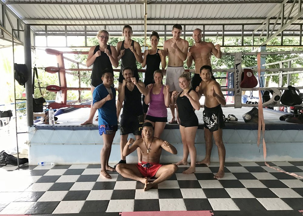 Group Muay Thai session - Crave Thailand Retreat