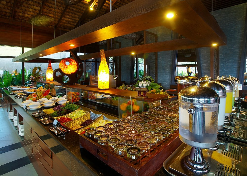 Nora Buri Resort buffet breakfast - Crave Thailand Retreat