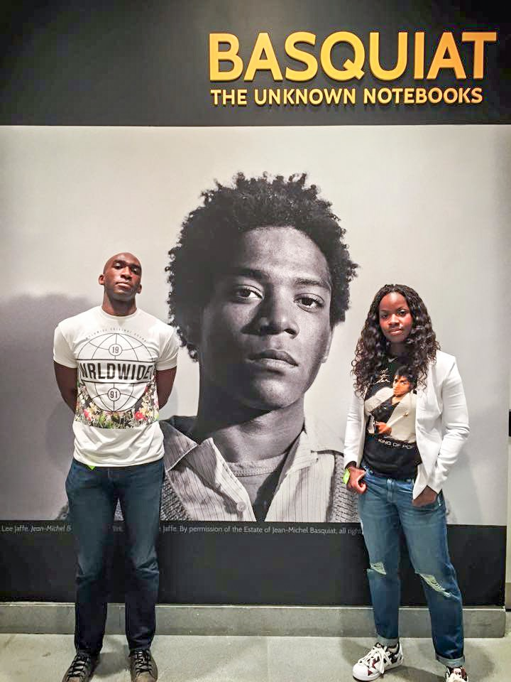 "Outside the Jean-Michel Basquiat ""Lost Notebooks"" exhibit at Brooklyn Museum"