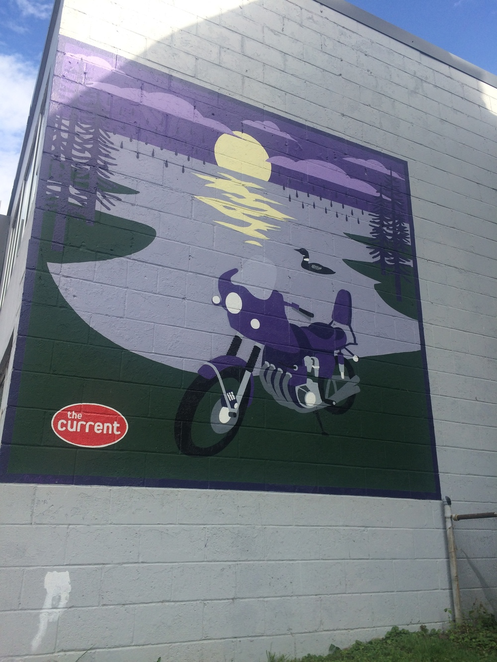 Found this cool painting of a purple motorcycle near the Uptown neighborhood of Minneapolis. I assume it's inspired by Purple Rain