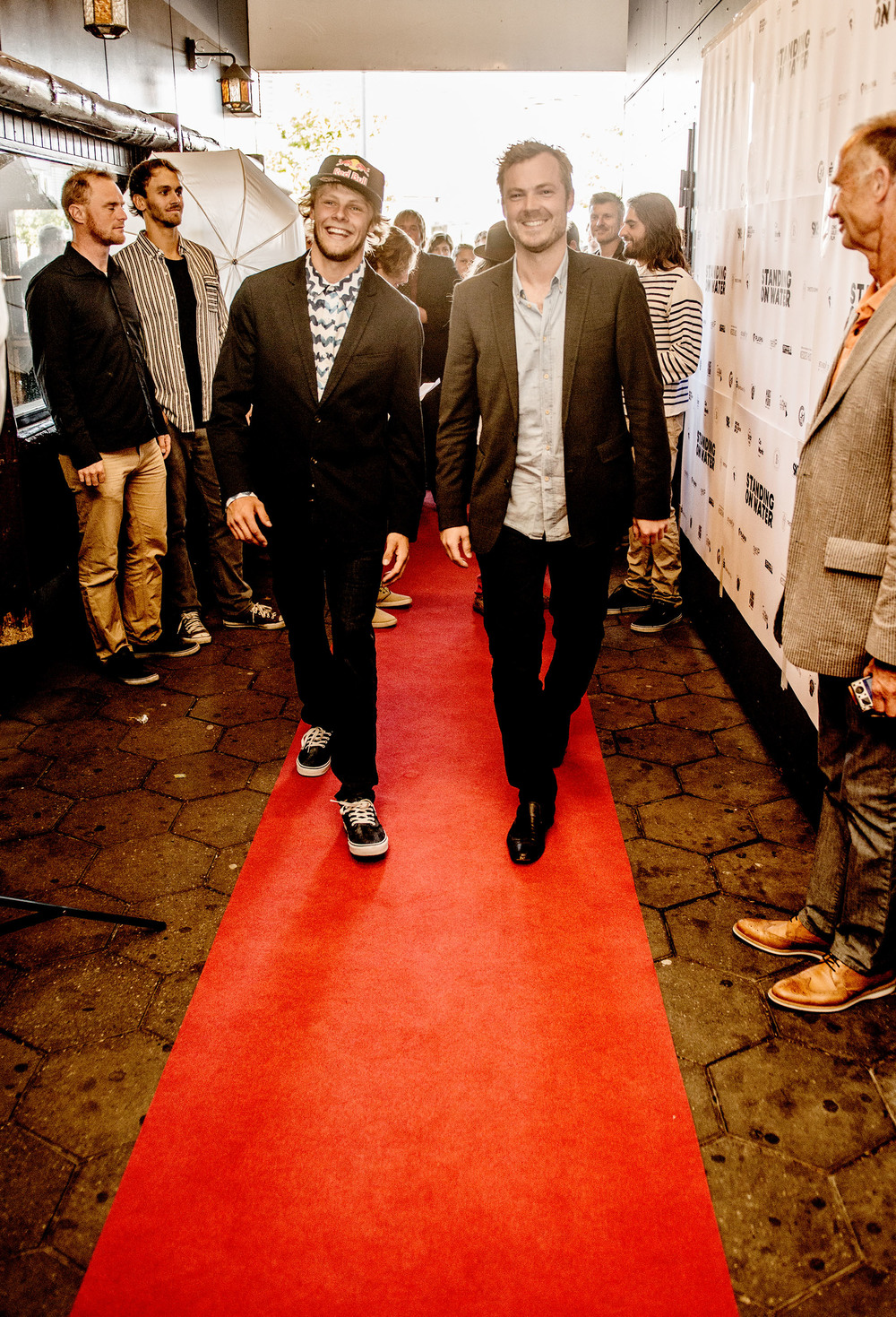 Peter Alsted and Casper Steinfath on the red carpet