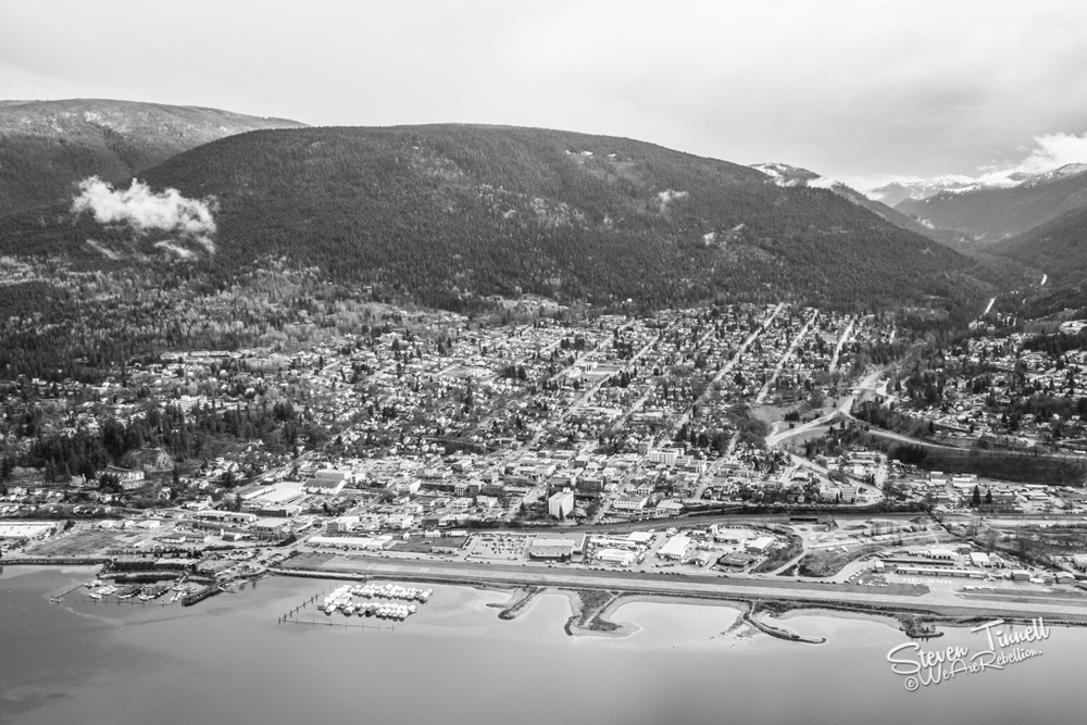Downtown Nelson from Pulpit Rock