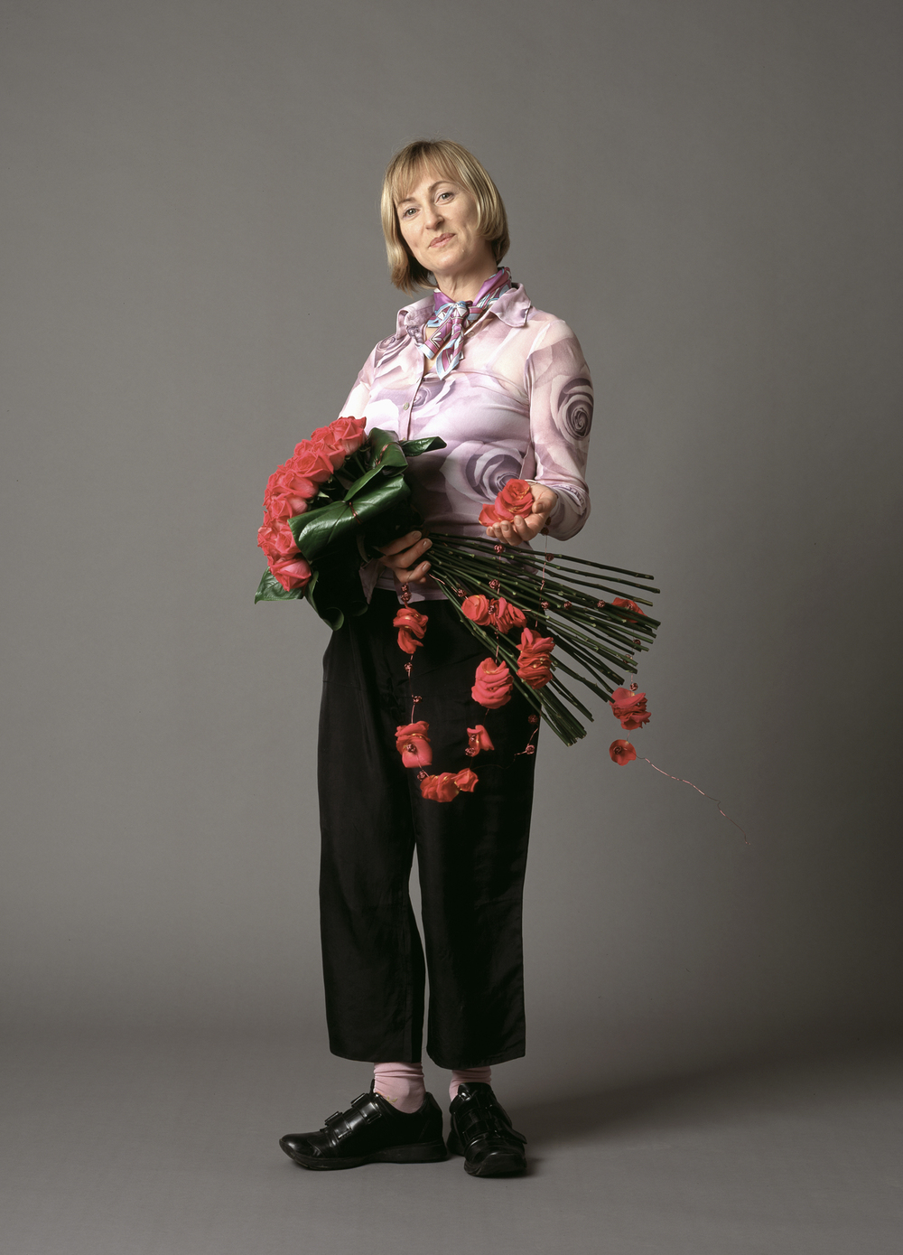 Jane Packer, Florist.  The Independent Magazine. Portrait by Anthony Oliver