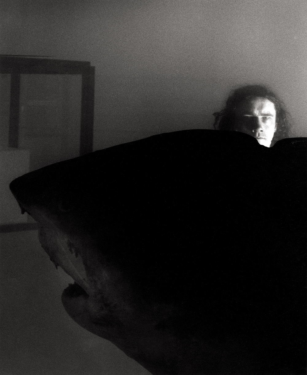 Damien Hirst and The Saatchi Shark, Boundary Rd.  Portrait by Anthony Oliver
