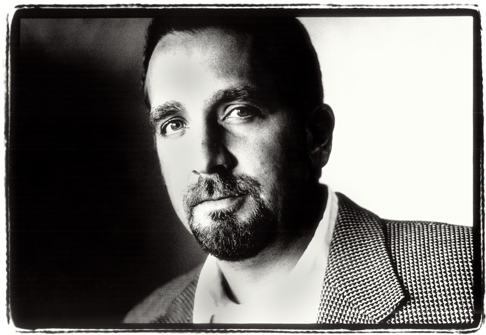 George Pelecanos, Crime Novelist.  Portrait by Anthony Oliver