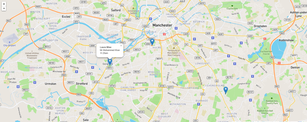 See all Nurse locations quickly and easily