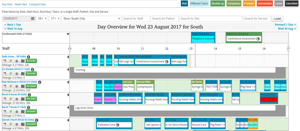 Quickly reschedule with an easy-to-use drag and drop interface