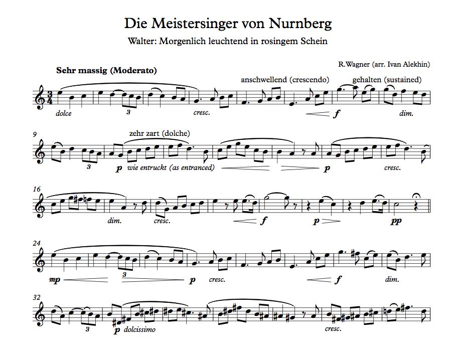 R. Wagner. Die Meistersinger von Nürnberg (click to download!)