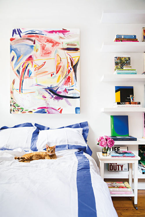 A Teeny Tiny Art Inspired Studio Apartment // Habitation Co.