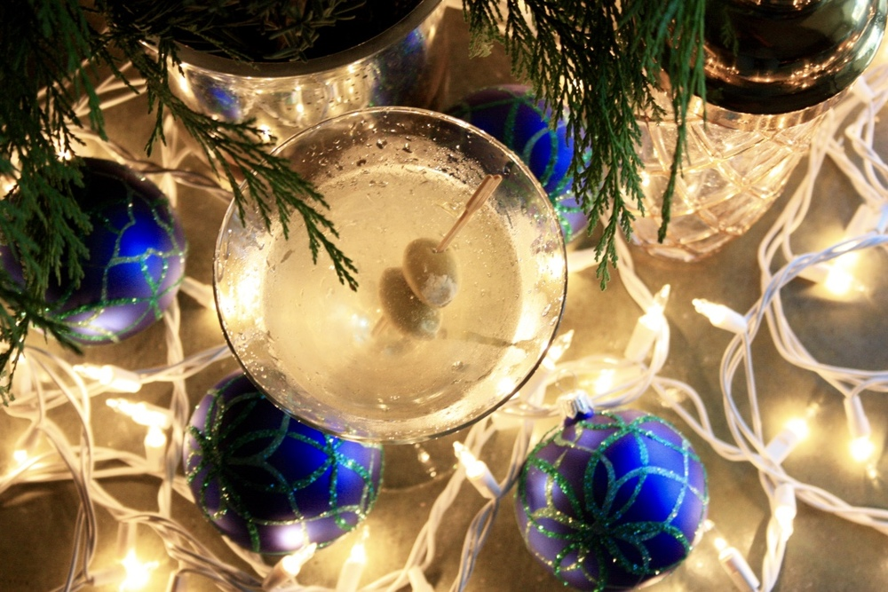 Bleu Christmas Martini // Holiday Cocktail Recipe // Habitation Co.
