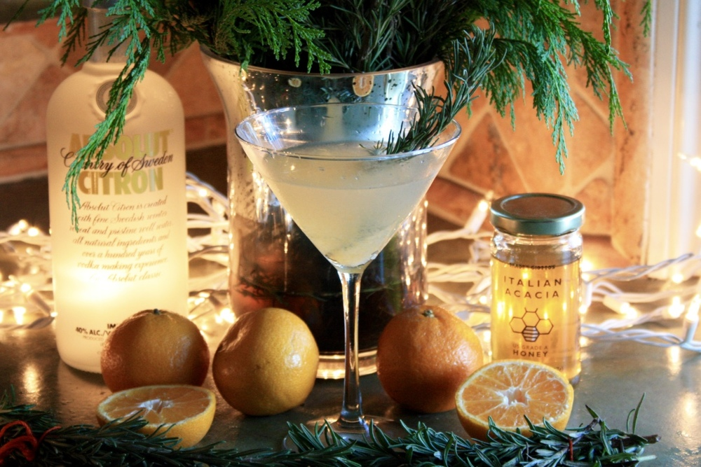 Rosemary Satsuma Martini // Holiday Cocktail Recipe // Habitation Co.
