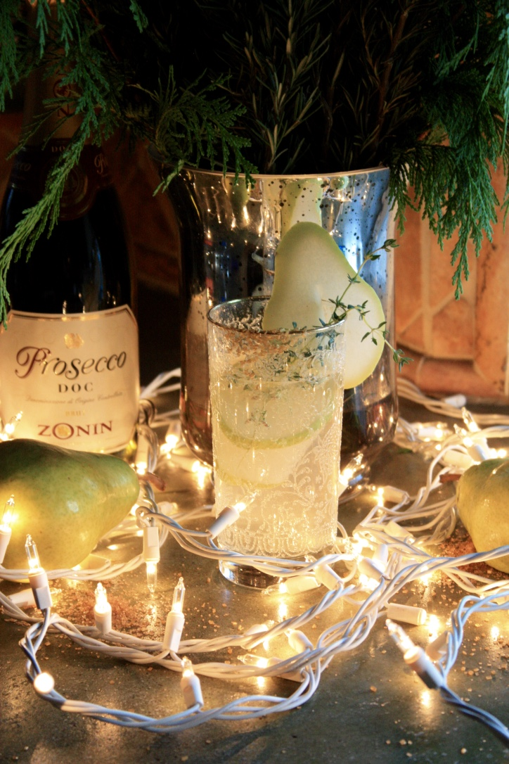 Pear & Thyme Diamond Gin Fizz // Holiday Cocktail Recipe // Habitation Co.