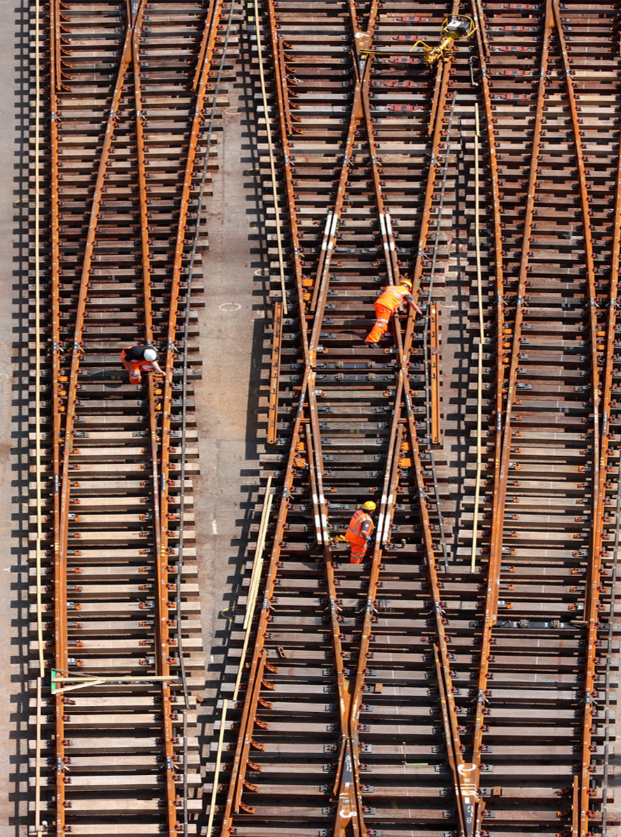 Industrial photographers UK rail.