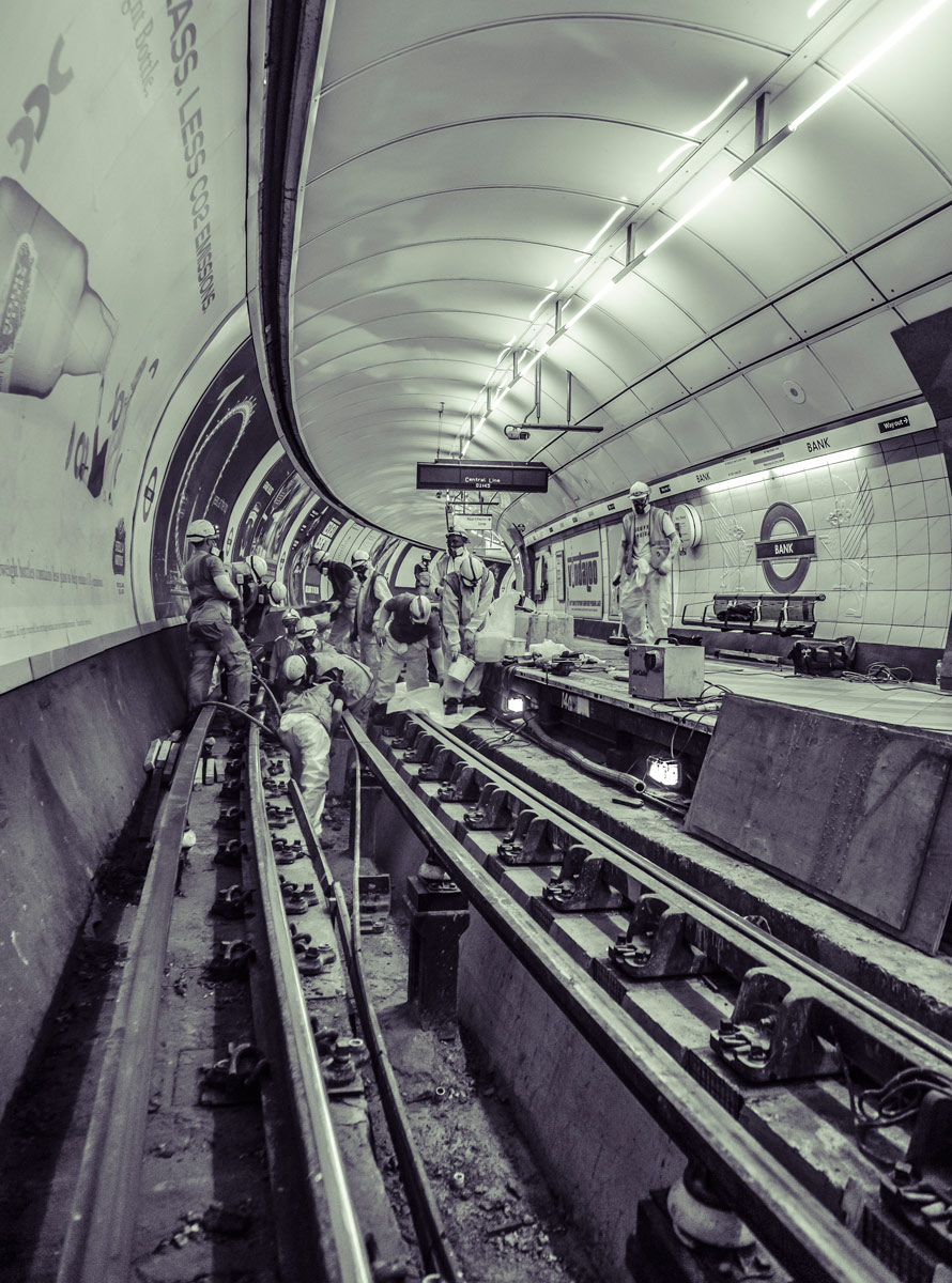 London Underground editorial photographer.