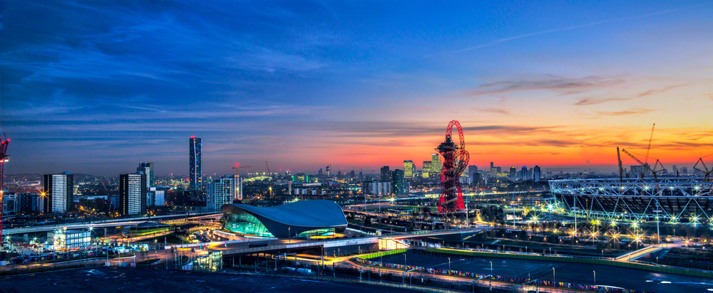 Panoramic landscape olympic park, London