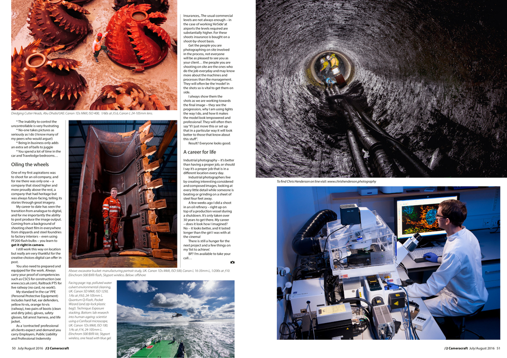 Page spreads of Industrial Photographers work.