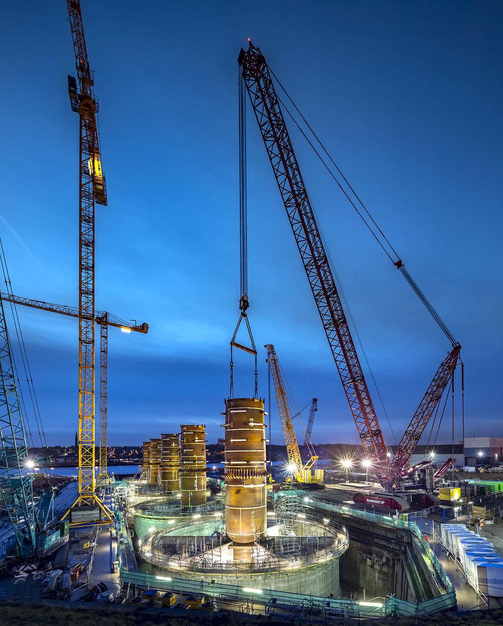Gravity base foundations for EDF wind farm.