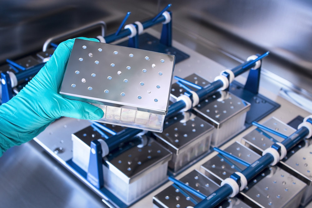 Biotech incubation of drug components.