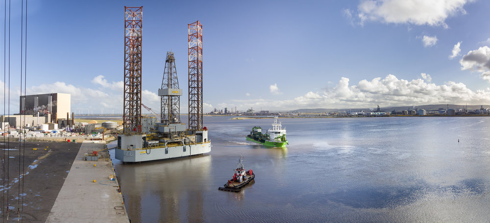 Capital Dredging for offshore base.