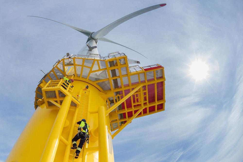 Wind Turbine offshore renewables photographer.