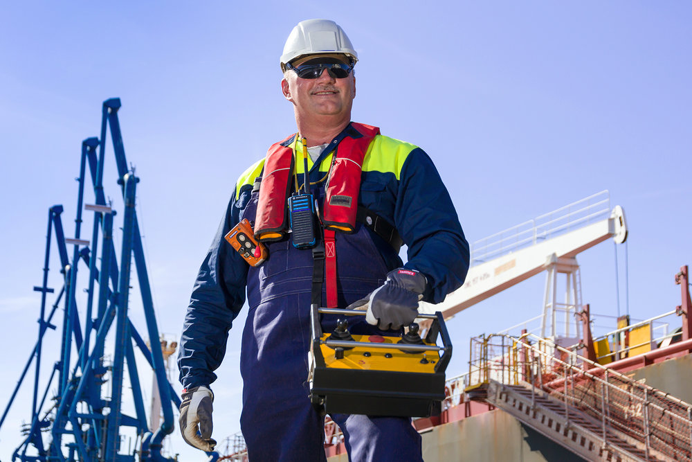 industrial loction portrait photography Oil Gas