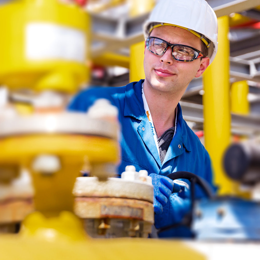 Offshore industrial photographers.