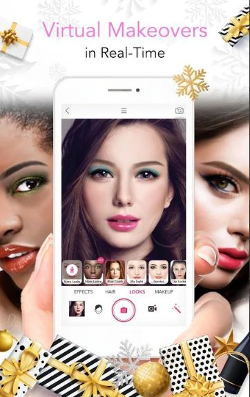 YouCam Makeup app by Perfect Corp- in the Android and Apple app stores