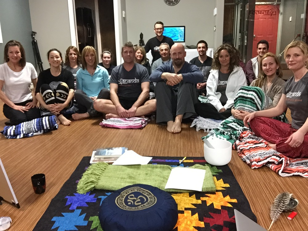 The first  ryananda meditation and mindfulness living  'Pattern Interrupt' teachings and talks! 18 beautiful souls completed this 8 week journey.  What a way to begin to cultivate your own meditation practice...
