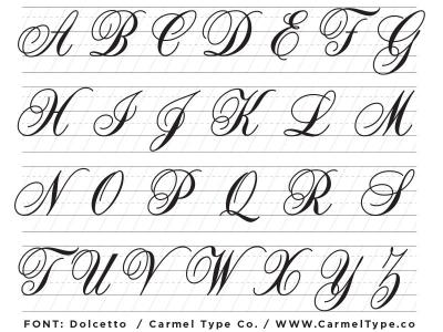 Formal Script Lettering Basics Ray Mawst Design