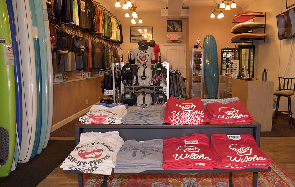 The Lake Effect Surf Shop is looking great!