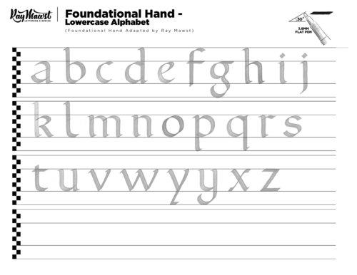 Calligraphy Worksheet Starter Kit 3 Styles Ray Mawst Lettering – Calligraphy Worksheet
