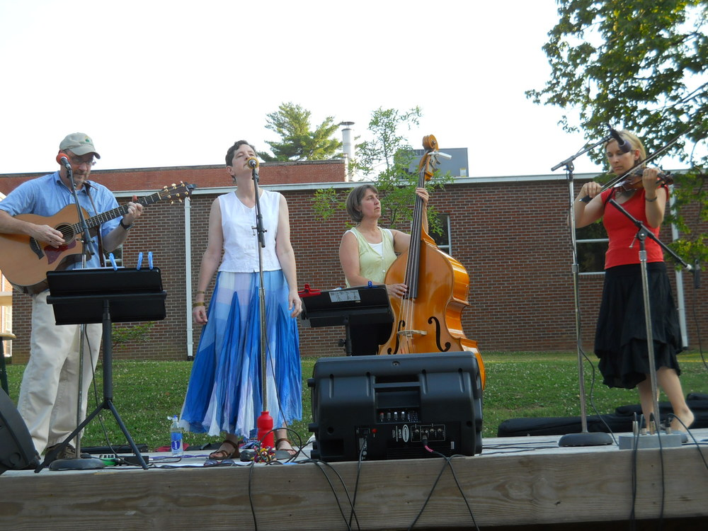 Concert on the Commons in Norris TN with Kathleen McGregor Williams and Kat Starr in 2012.
