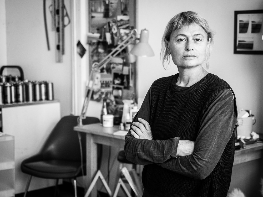 Portrait of Artist Inna Babaeva in her Studio in Long Island City NYC