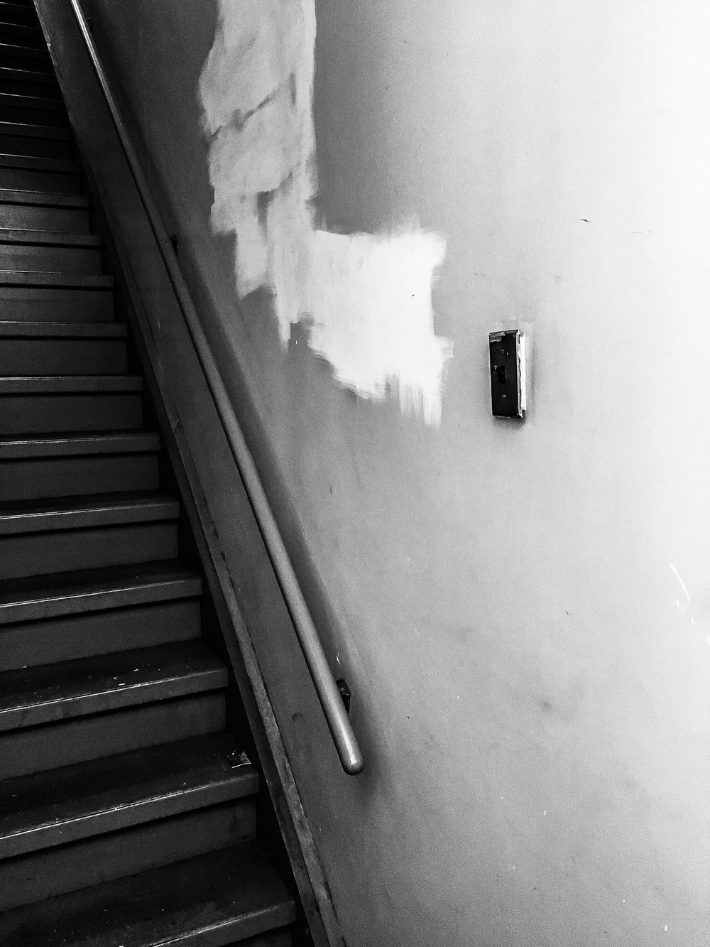 Stairs in Studio Building of Artist Stacy Fisher in Brooklyn Neesh NYC