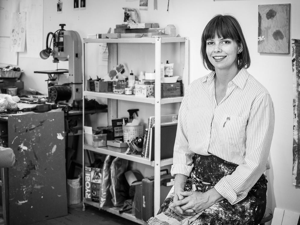 Portrait of Sculptor Stacy Fisher in her Studio in Brooklyn Nessh NYC