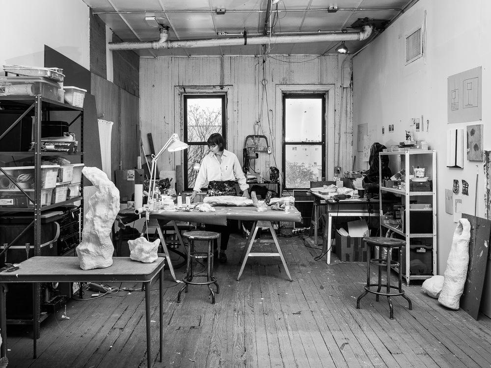 Sculptor Stacy Fisher in her Art Studio in Brooklyn Neesh NYC