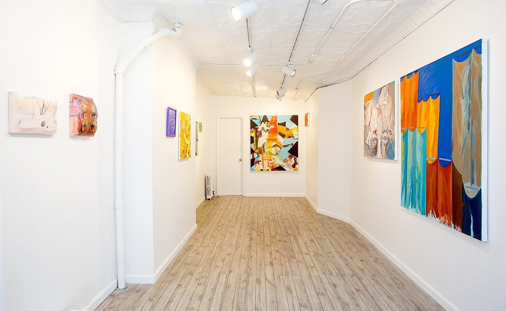 """View of """"Spaces"""" curated by William Crump at Station Independent"""